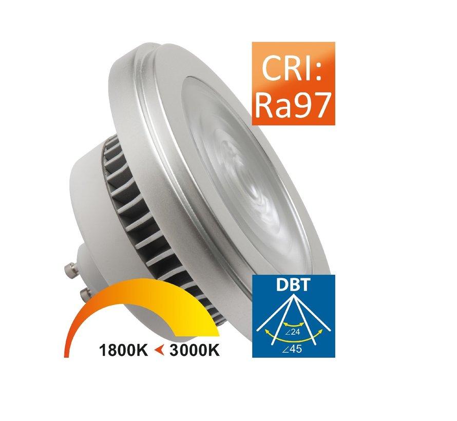 MM09935 AR111 GU10 230V-10W/24-45gr Dim to Warm
