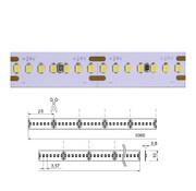 Brilliant Basic 24V-24W IP00 5mtr ledstrip 280 leds/p.mtr CRI90