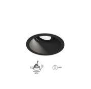 Wever-Ducre Deep Adjust Petit 1.0 Led richtbare inbouwspot 6W