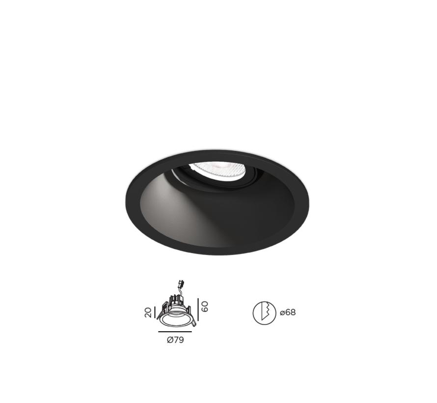 Deep Adjust Petit 1.0 Led 6W richtbare inbouwspot 350mA  dimbaar