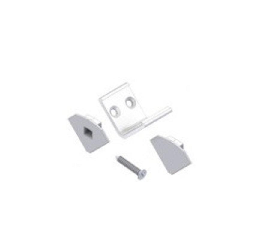 Compact Corner accessoire set, 2 x eindkap, 4 x clip