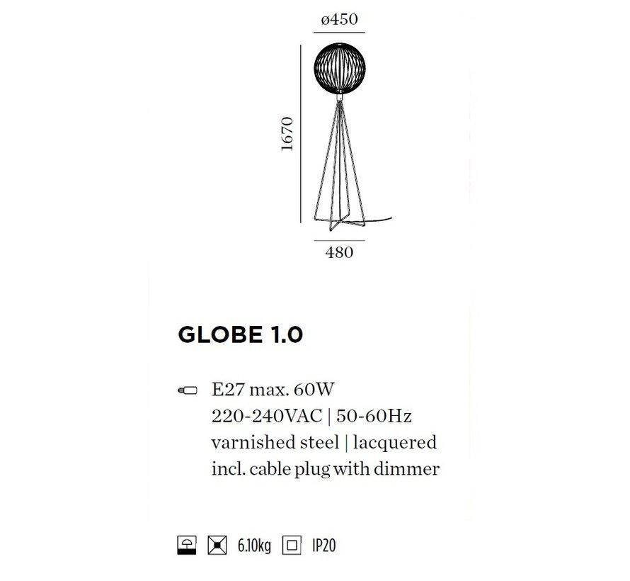 Globe 1.0 vloerlamp 1670mm E-27