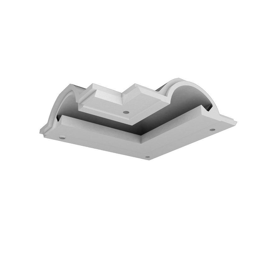 Orio 04  modulair trimless hoekstuk ledstrip aan buitenzijde