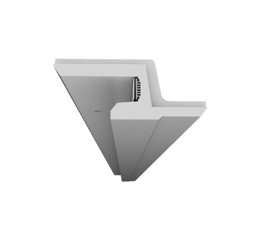 Zita 01 trimless indirect schijnend Led gips profiel 150cm  -  97x40mm