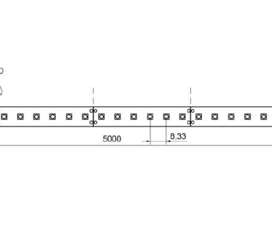QX II Basic 5 mtr 12V-4,8W  ledstrip 60 leds/p.mtr CRI85 HIGH OUTPUT