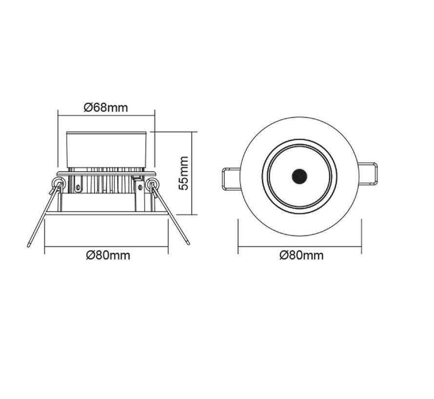 Megaman Siena MM05249 LED 230V Dim to Warm spot 8 Watt dimmable 2800-1800K white