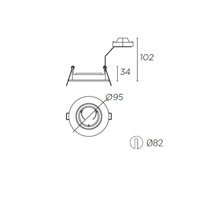 Trimium mini richtbaar inbouwspot wit voor GU5.3/GU10