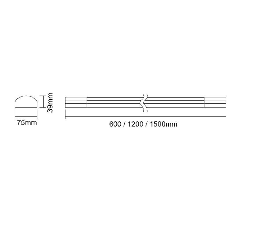 Malo LED surface-mounted luminaire 4000K in 15 - 35 or 42Watt