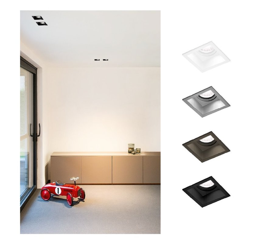 Plano 1.0 orientable LED recessed spot in 4 colors
