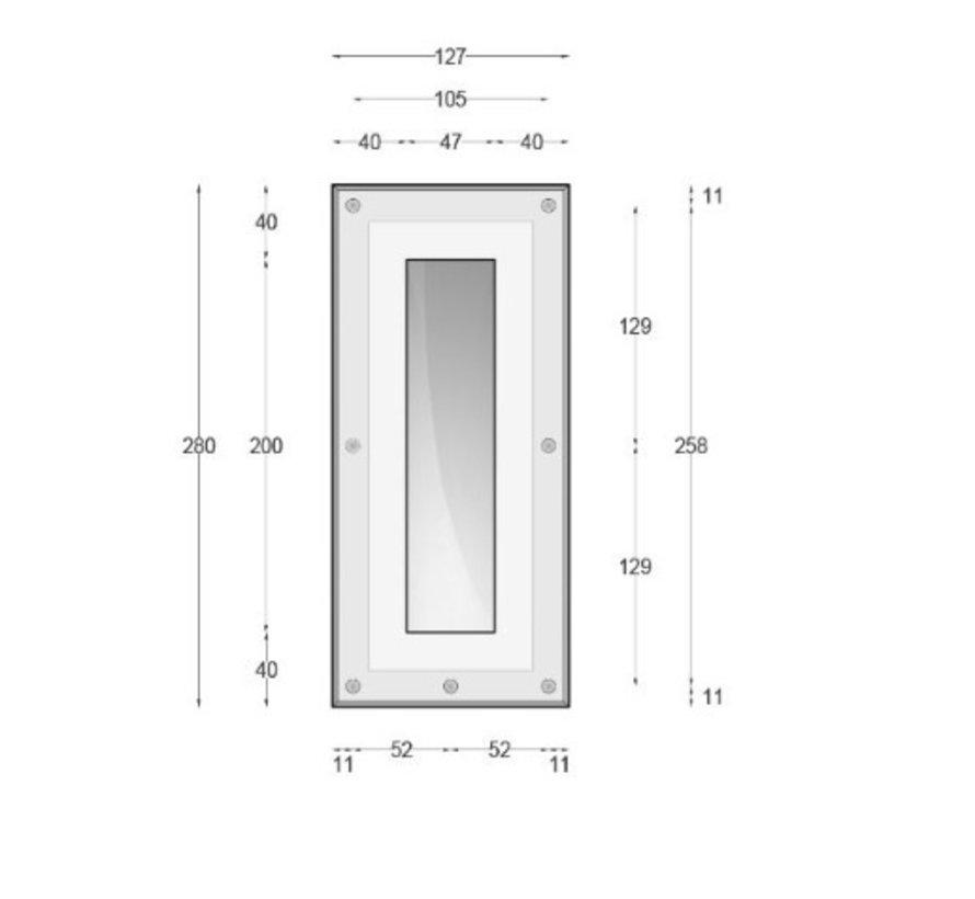 Ray20 trimless gips led wand inbouw rechthoekig MR11-GU10/G4