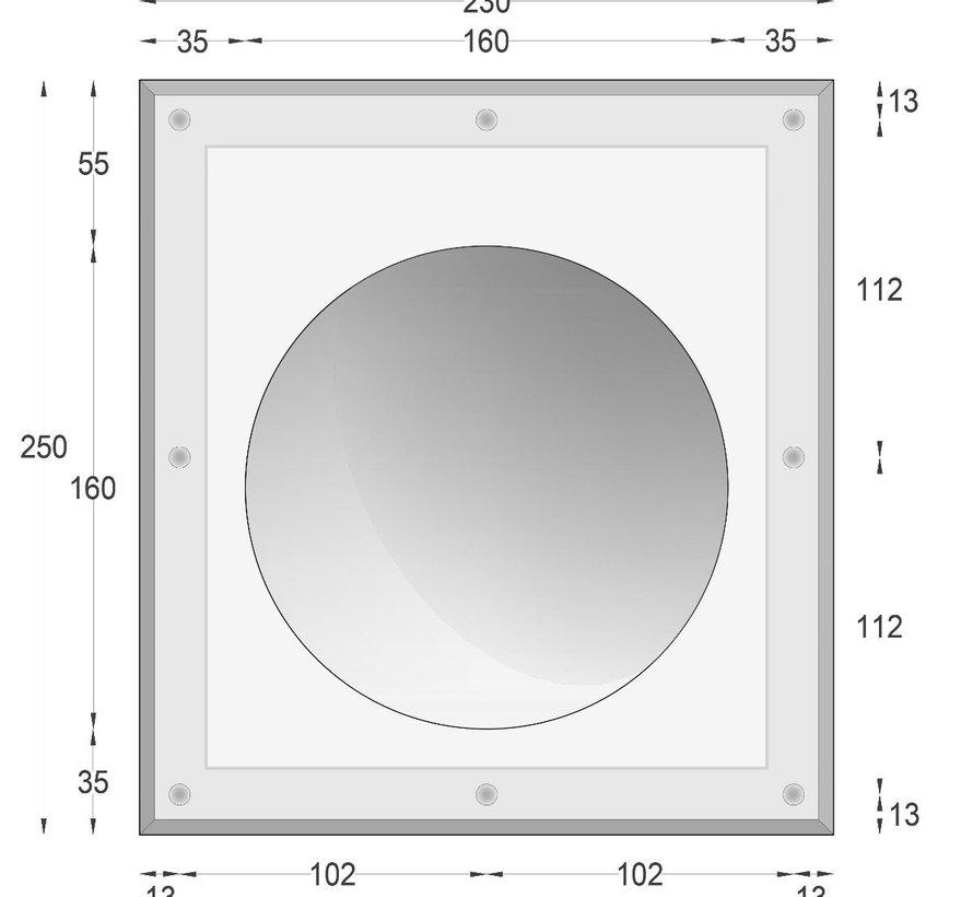 Luna16 trimless plaster LED wall recessed round Ø160mm GU10-G4