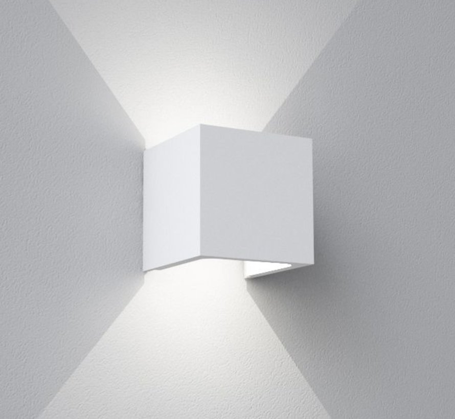 Kelyfos Up-down gips led wandlamp 3,5Watt-2700K dimbaar