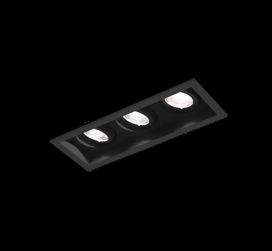 Plano Petit 3.0 Led 3 x 6W richtbare inbouwspot 350mA  dimbaar