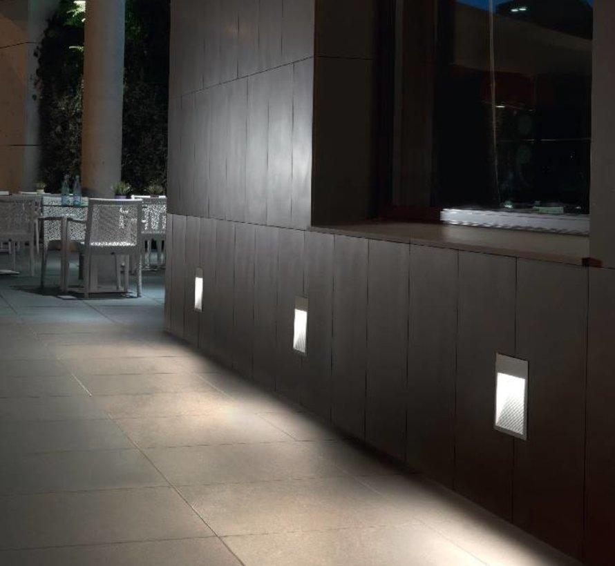 Micenas Led wand inbouwlamp 230V-5,5Watt