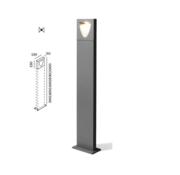 Wever-Ducre Smile 2.0 8Watt-3000K paal top armatuur donker grijs