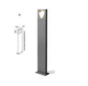 Wever-Ducre Smile 1.0 8Watt-3000K paaltop armatuur donker grijs
