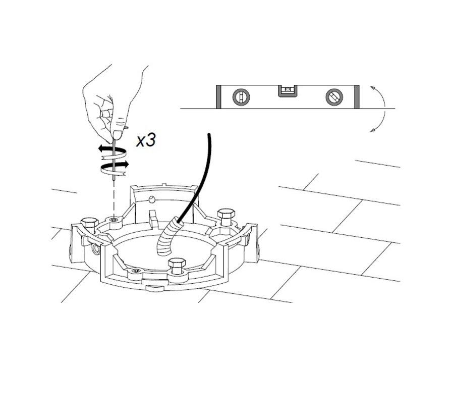 Newton Led paal armatuur 800mm 12,7W-3000K antraciet
