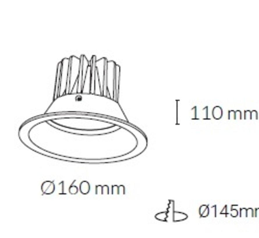 Dara IP44 inbouw ledspot 7-40Watt