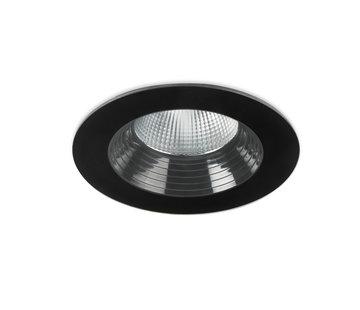 Leds-C4 Dako Fixed IP65 recessed downlight in black