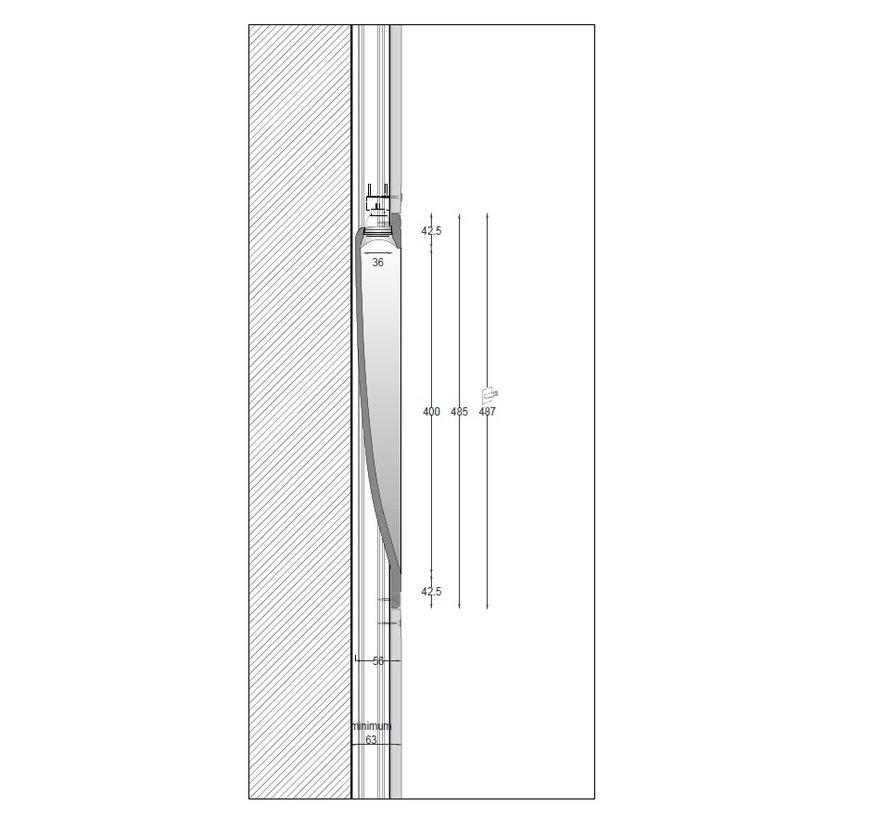 Ray40 trimless gips led wand inbouw rechthoekig MR11-GU10/G4