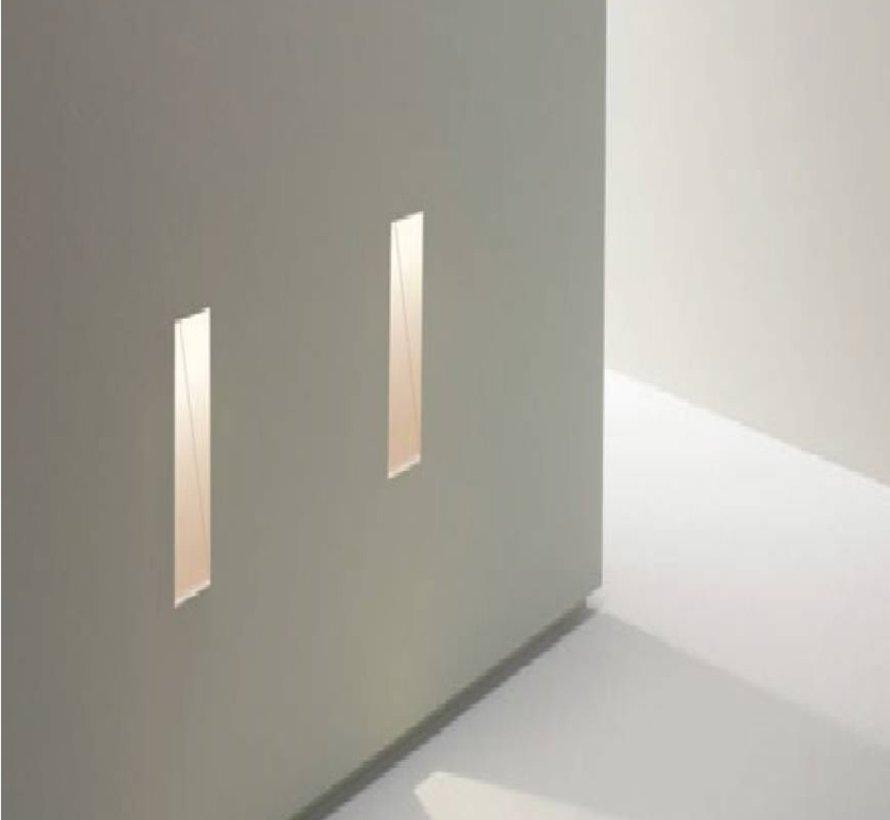 Ray40 trimless plaster led wall recessed rectangular MR11-GU10/G4