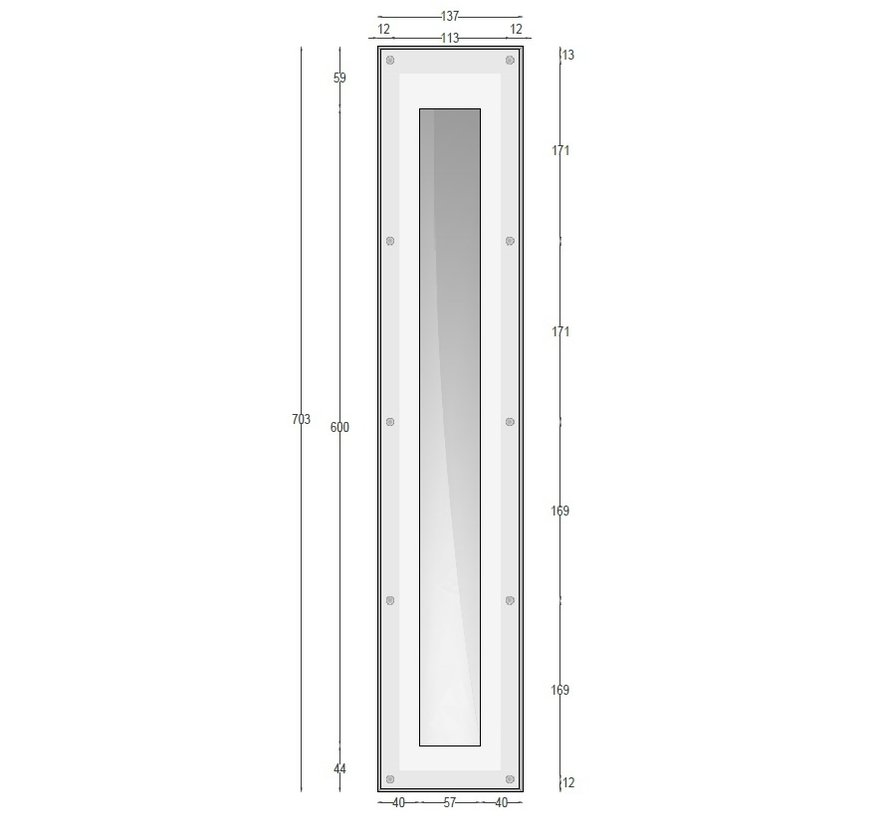 Ray60 trimless plaster LED wall recessed rectangular GU10/GU5.3