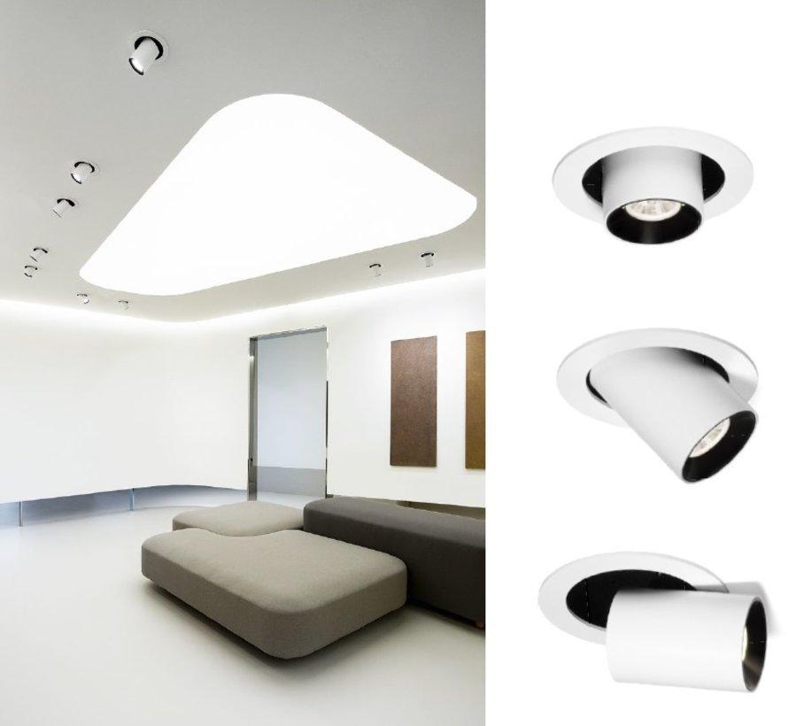 Spyder 1.0 LED richtbare 7/10Watt inbouwspot in wit of zwart