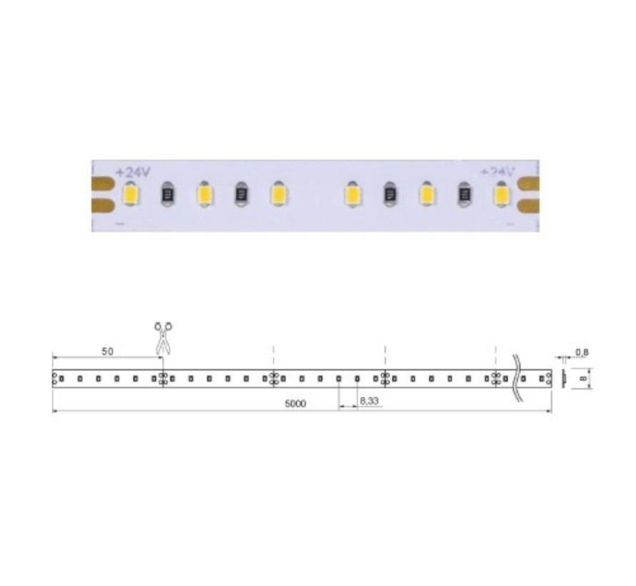 Brilliant Basic 5 mtr 24V-9,6W  ledstrip 120 leds/p.mtr
