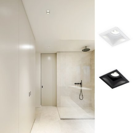 Recessed spotlights suitable for damp rooms IP44