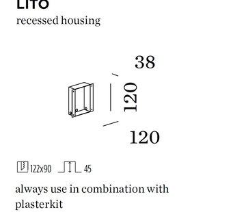 Wever-Ducre Recessed housing voor Lito (massieve muur)
