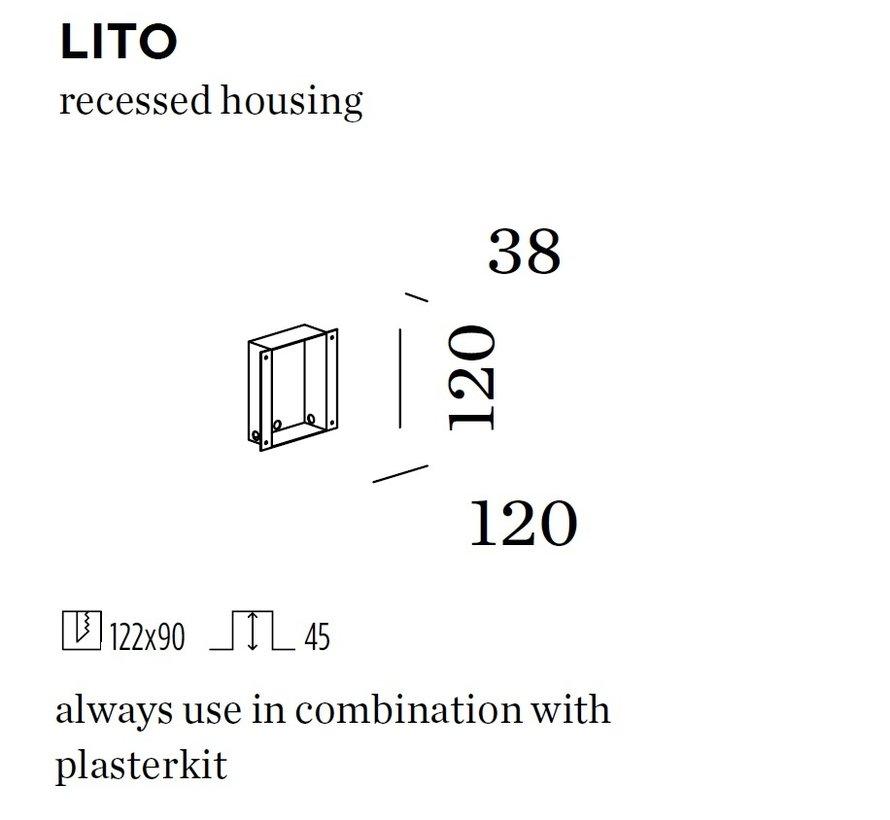 Recessed housing voor Lito (massieve muur)