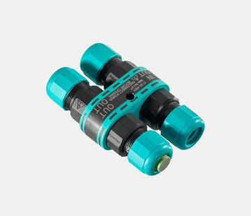 Leds-C4 xDRY IP68 H - kabelconnector voor 4 kabels Ø 7-12mm