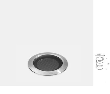 Leds-C4 ios ground led recessed spot 4W-3000K stainless steel 24-48Volt