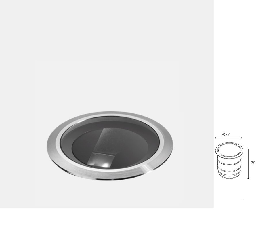 ios ground Ø 77mm led recessed spot 5.8W-3000K stainless steel 24-48Volt