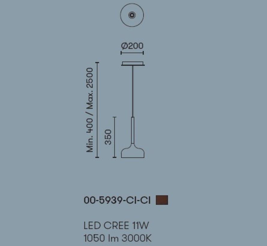 Sixties hanglamp(en) 11Watt-3000K in 4 uitvoeringen