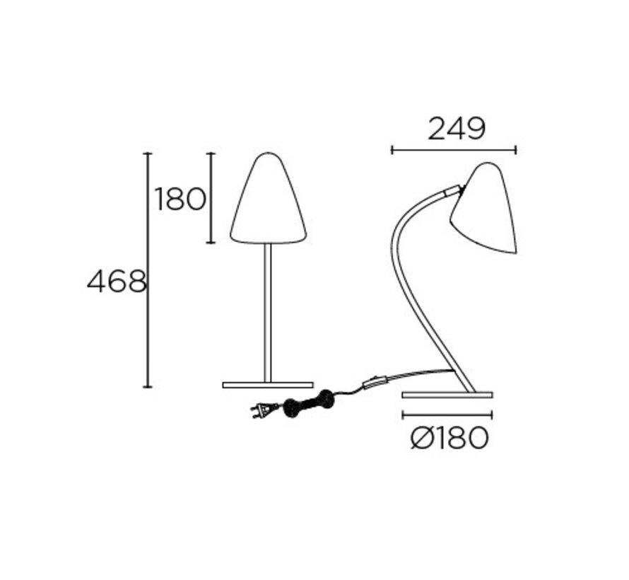 Organic tafellamp zwart-goud E-27