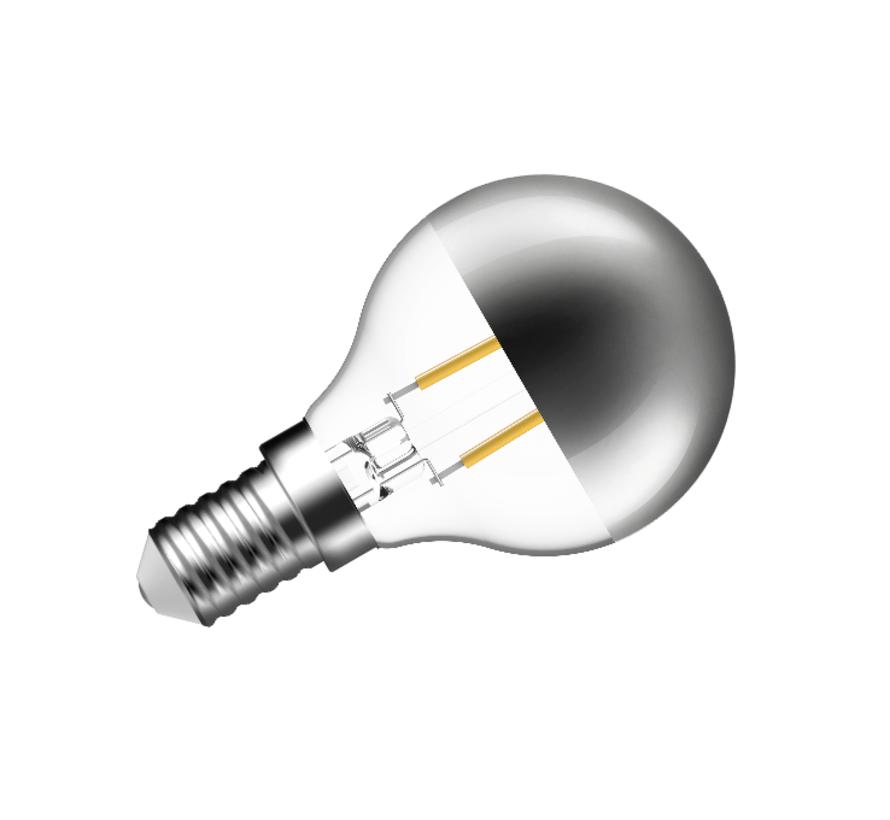 MM10029 Kopspiegel E-14 ledlamp 4W-2700K zilver dimbaar