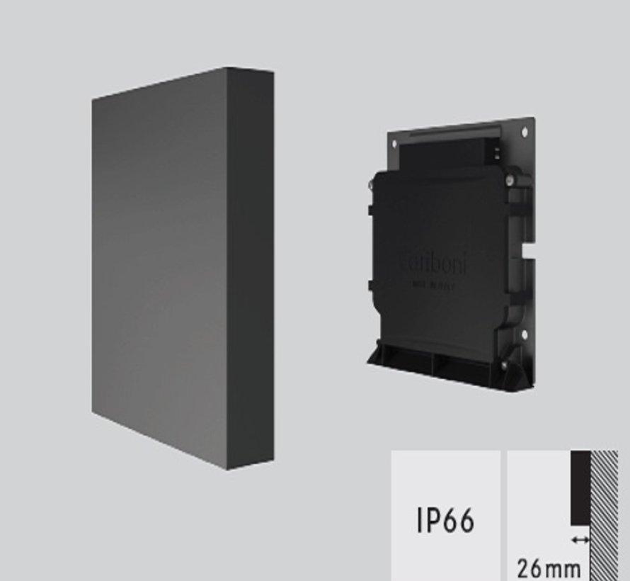 Sans Serif MR outdoor LED wandarmatuur 6,5W-3000K