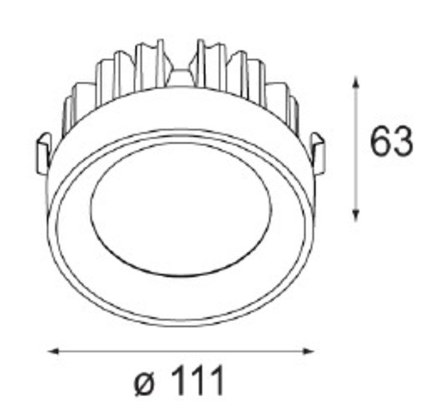 M-LED Ø111mm Led inzetmodule 2700K flood zwart