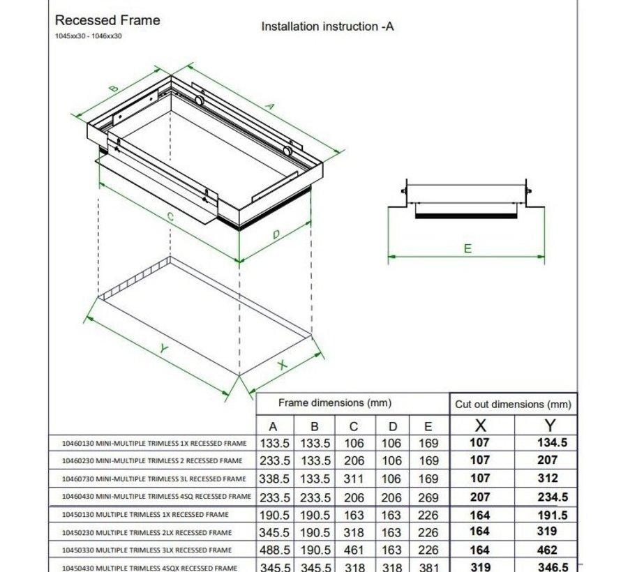 Plasterkit voor Multiple Trimless 2 x AR111