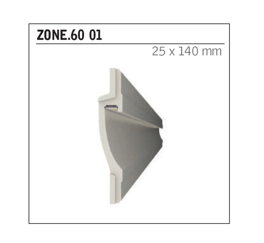 Zone 60 trimless indirect schijnend Led gips profiel 150cm