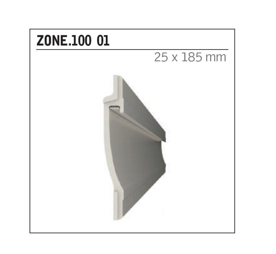 Zone 100 trimless indirect schijnend Led gips profiel 150cm