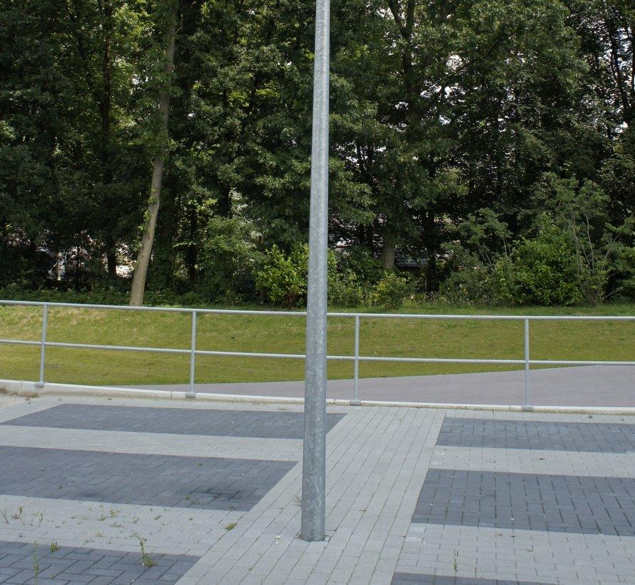 Paaltop mast Ø60mm antraciet 3500mm + 600mm grondinzet