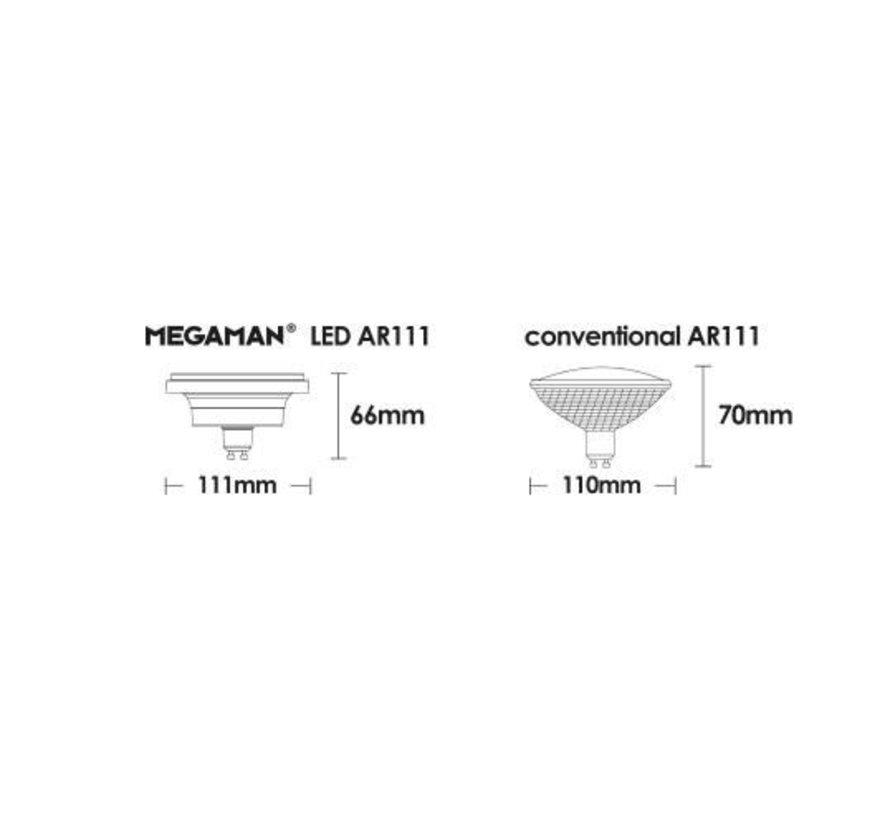 MM08257 AR111-G10 230V-11W-45gr dimbaar 2800K
