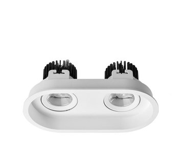Leds-C4 Play Deco Double recessed frame for Ø50mm led