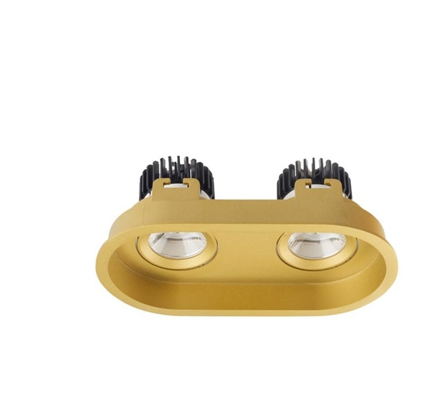 Play Deco Double recessed frame for Ø50mm led