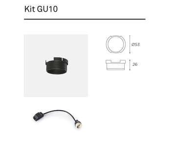Leds-C4 Play Kit GU10 adapter en lampvoet