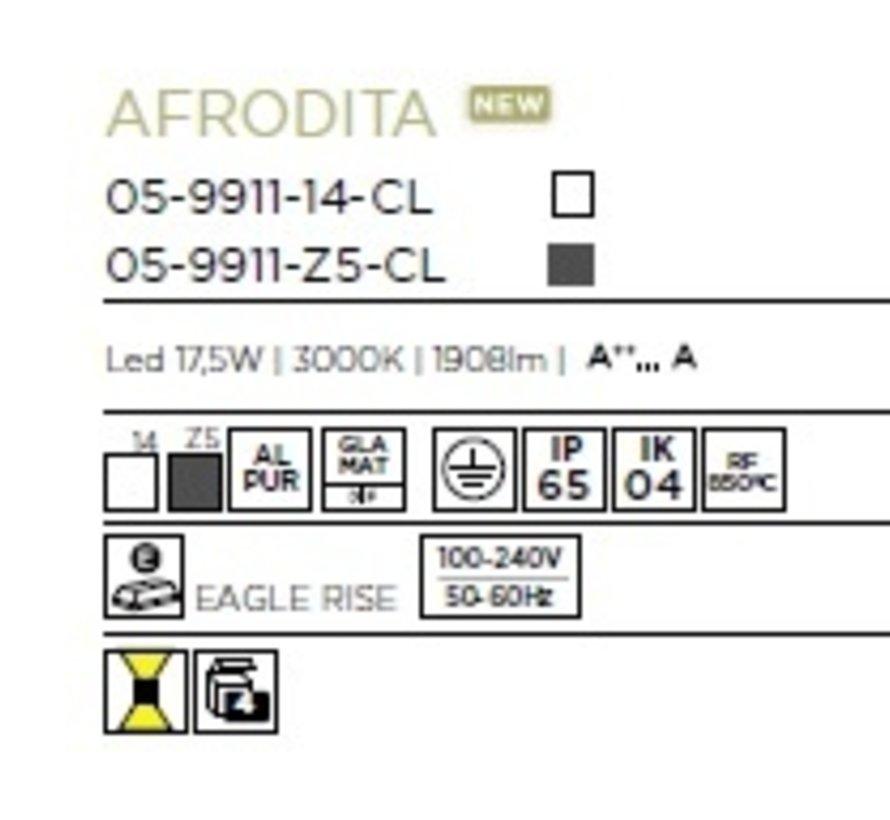 Afrodita Led up/down wandarmatuur 17,5Watt IP65