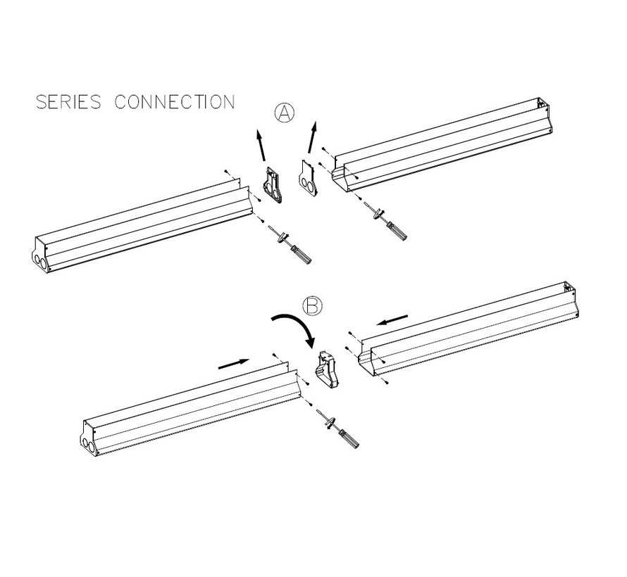 Convert oudoor recessed wall washer 40,7W length 100cm in 3000-4000K