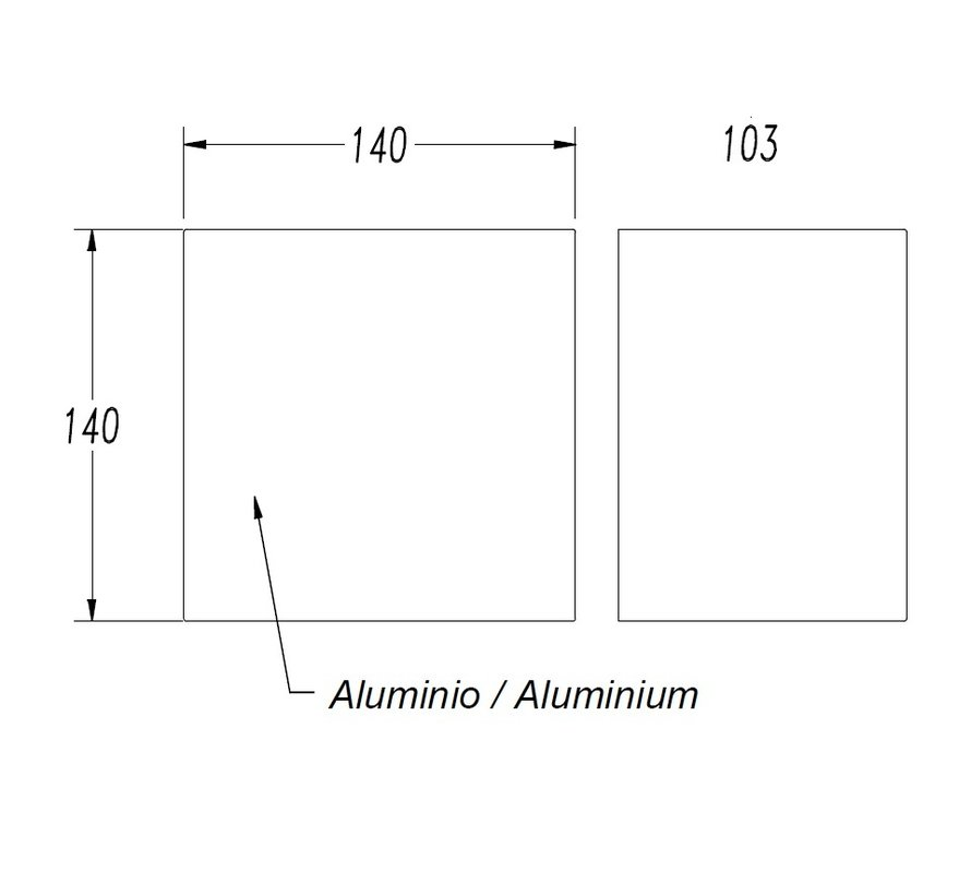 Prime LED wandopbouwarmatuur 40W-3000K dimbaar
